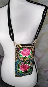 Embroidered Wallet / Crossbody